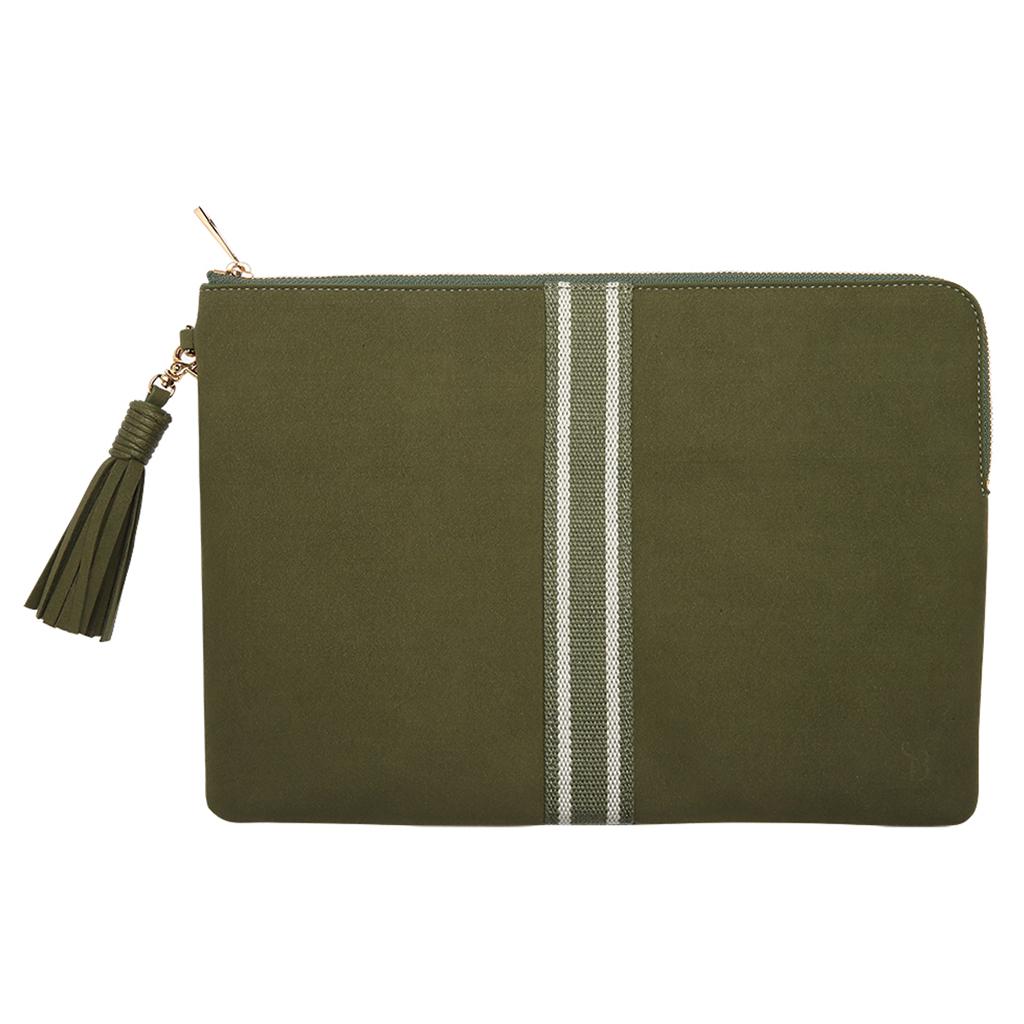 Rose Khaki Microfibre Laptop Bag